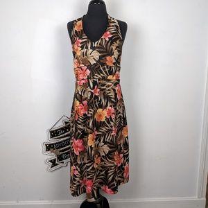 AB Studio Tropical Halter Dress